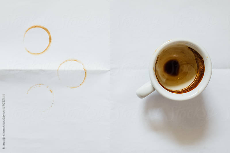 Empty Espresso Cup From Above by Nemanja Glumac for Stocksy United