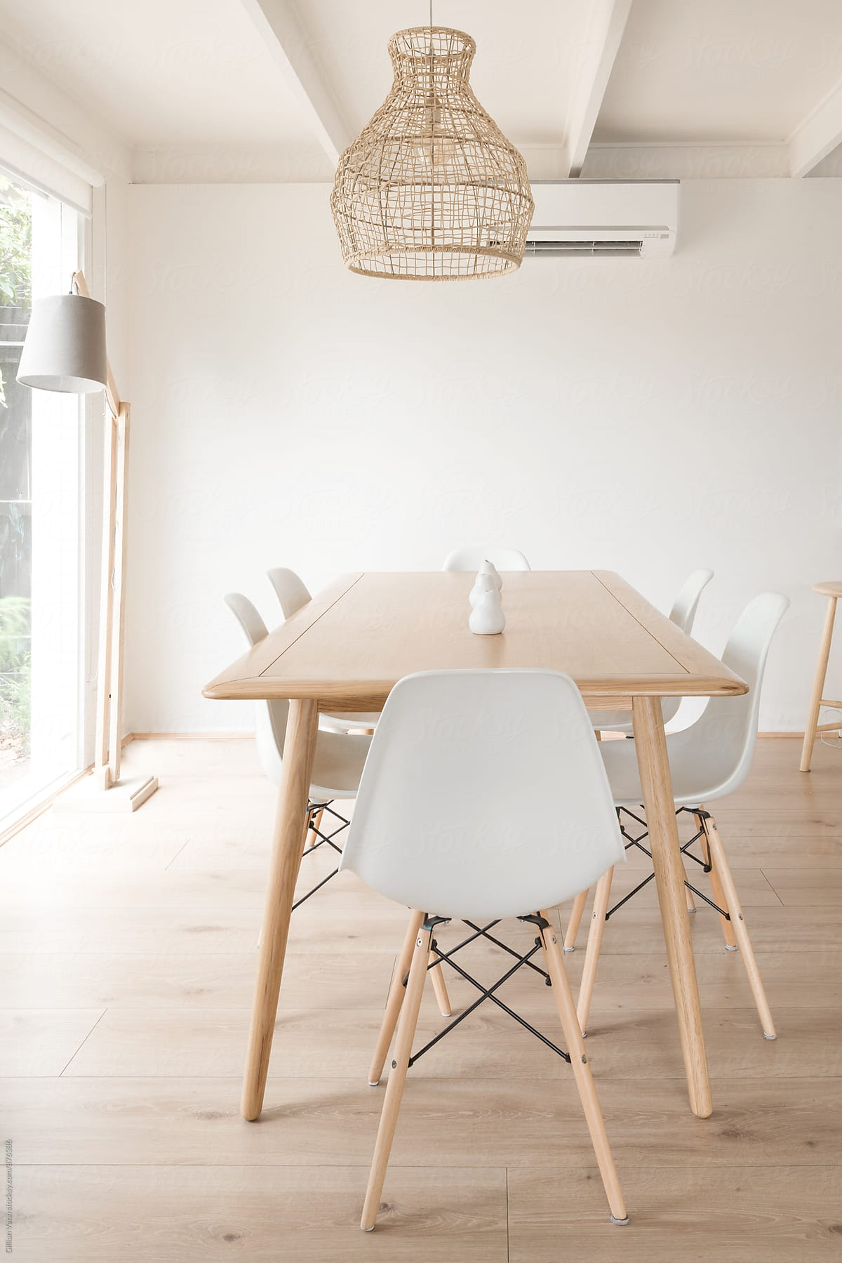 Modern Dining Room With Minimalist Timber Furniture By Gillian Vann For  Stocksy United