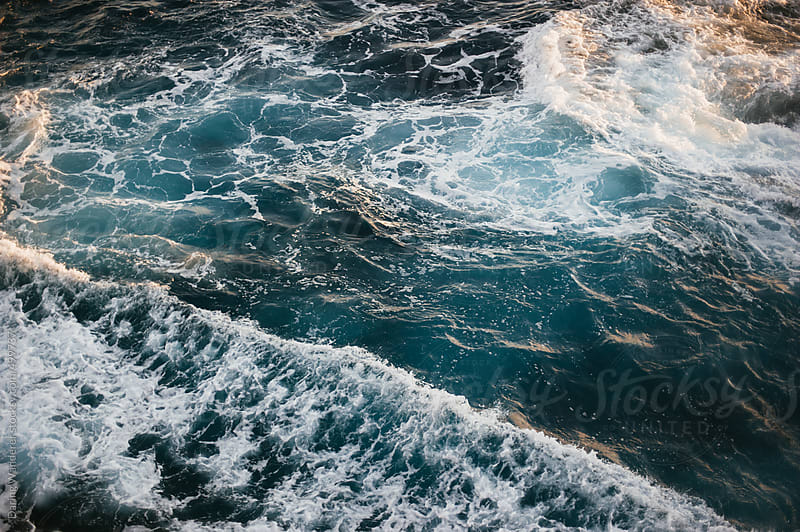 Ocean waves, swirls and currents in Hawaii by Daring Wanderer for Stocksy United