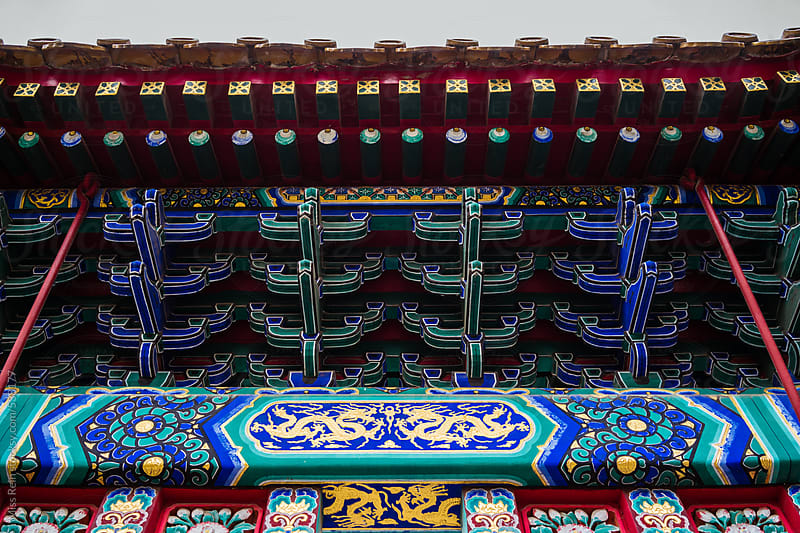 Chinese classical style Architecture,in Beijing by Miss Rein for Stocksy United