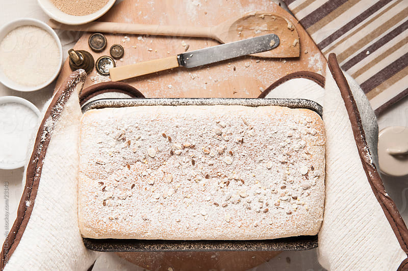 Fresh bread. by Rachel Dewis for Stocksy United