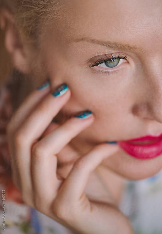 Beautiful Green-Eyed Woman by Lumina for Stocksy United