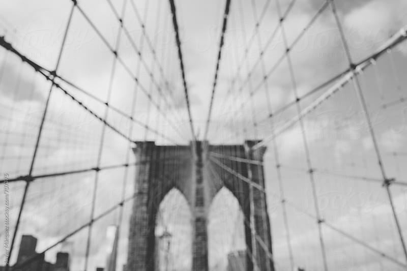 Views in the Brooklyn Bridge by Javier Marquez for Stocksy United