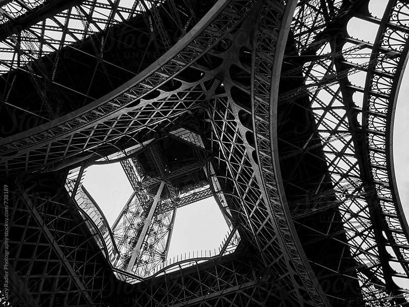 Eiffel Tower from Below by Gary Radler Photography for Stocksy United