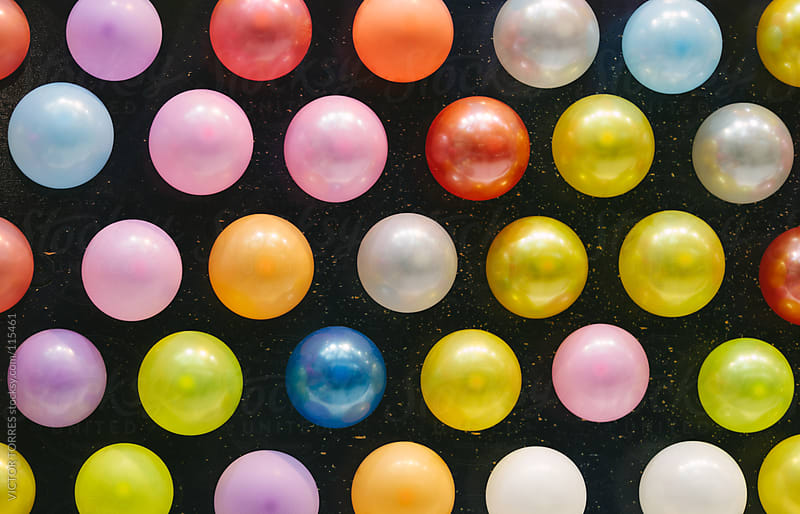 Color Balloons Background by VICTOR TORRES for Stocksy United