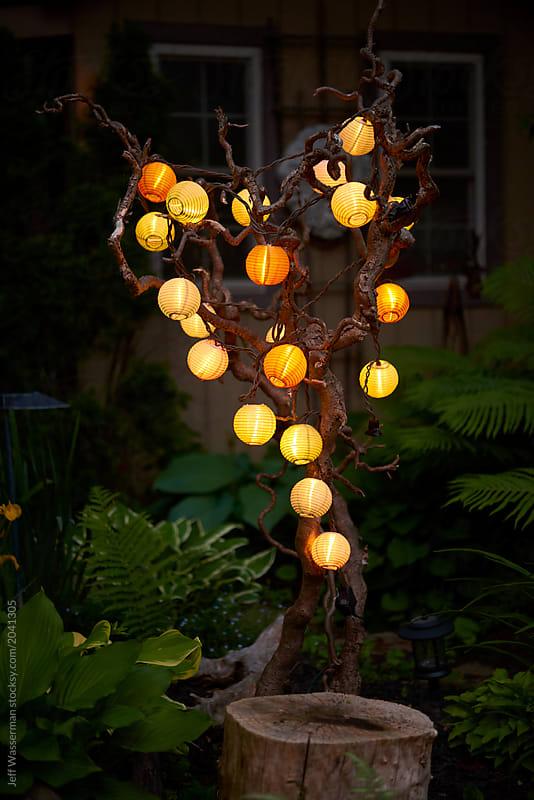 Patio lantern lights by jeff wasserman lantern outdoor stocksy patio lantern lights by jeff wasserman for stocksy united workwithnaturefo