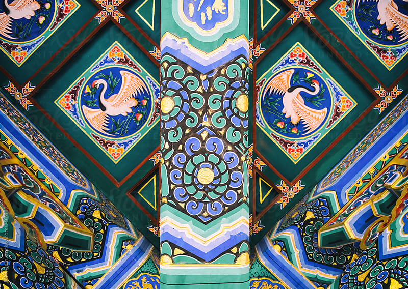 Chinese traditional architectural patterns,Beijing by Miss Rein for Stocksy United