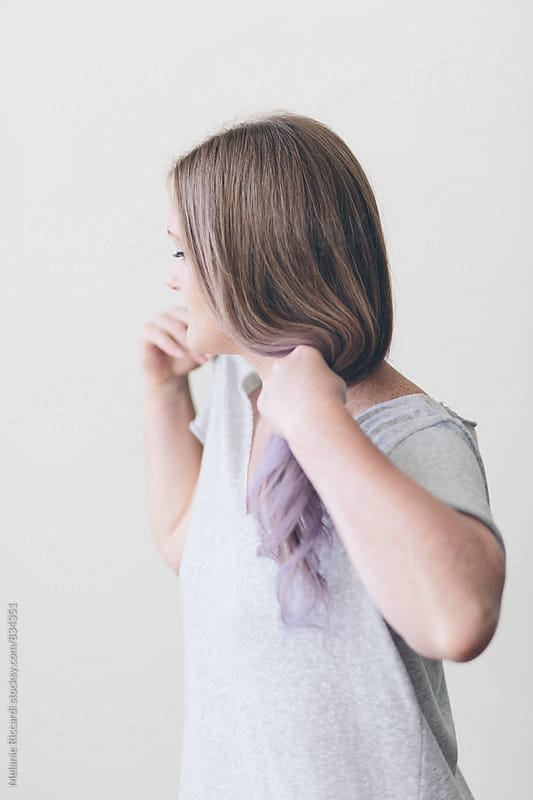Purple Hair by Melanie Riccardi for Stocksy United