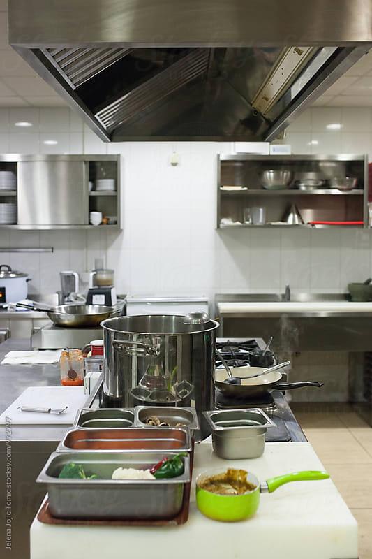 Restaurant kitchen by Jelena Jojic Tomic for Stocksy United
