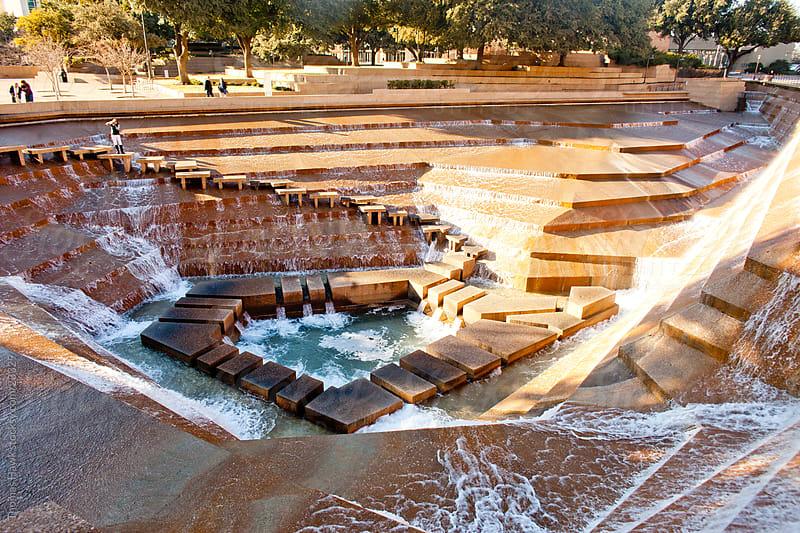 Public Fountain in Fort Worth, TX by Thomas Hawk for Stocksy United