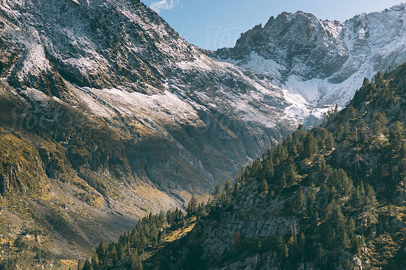 part of the snow-capped mountains  by Javier Pardina for Stocksy United