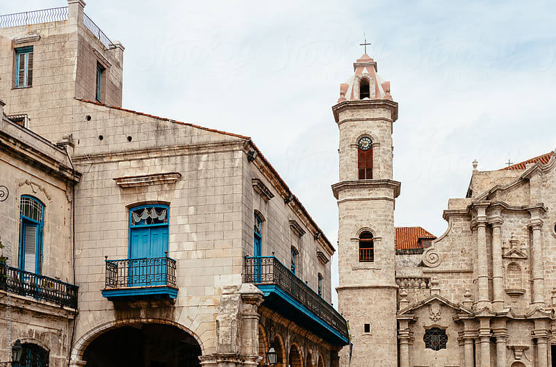Details of architecture at Plaza de la Catedral in Havana by Natasa Kukic for Stocksy United