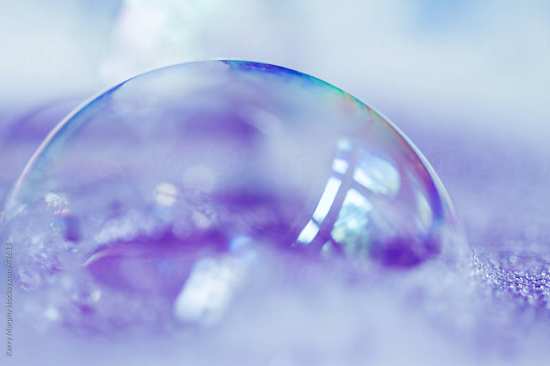 Macro of colorful, playful bubble by Kerry Murphy for Stocksy United
