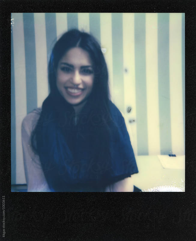 Polaroid of a beautiful persian woman  by kkgas for Stocksy United