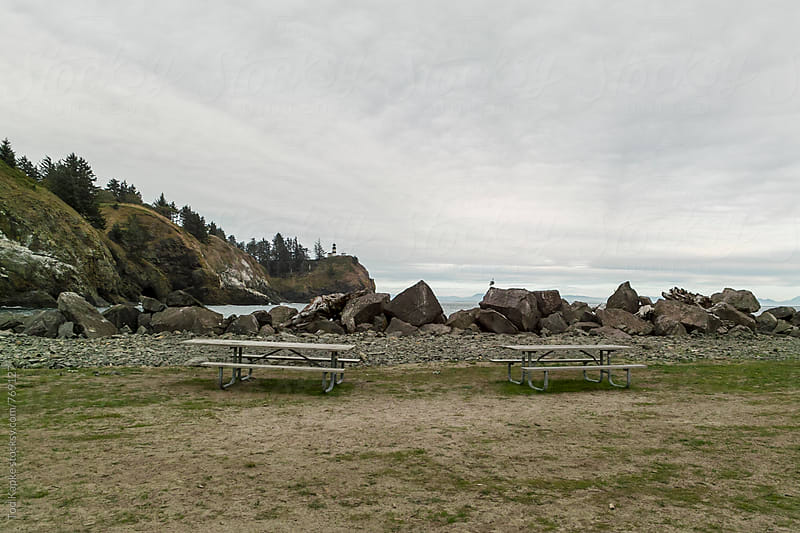 picnic at Cape Disappointment by Tod Kapke for Stocksy United
