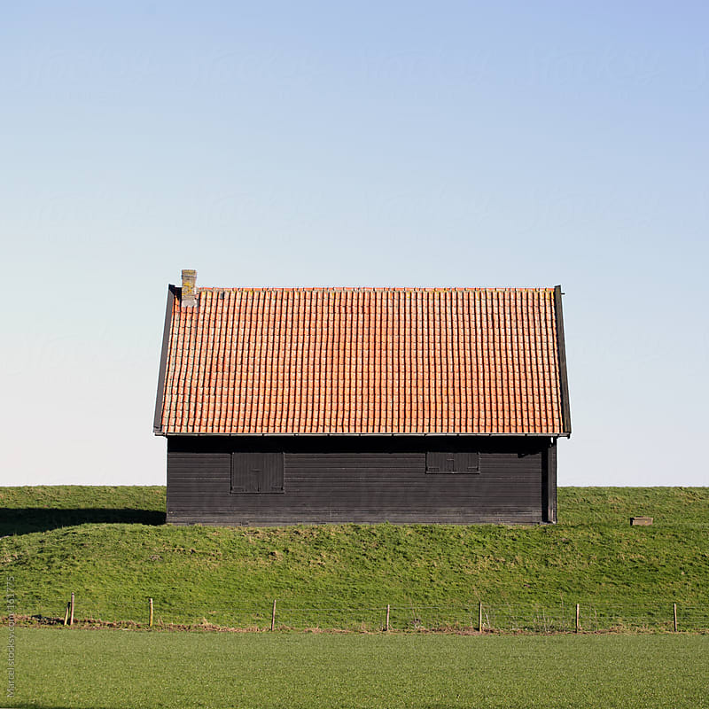 Simple wooden barn by Marcel for Stocksy United