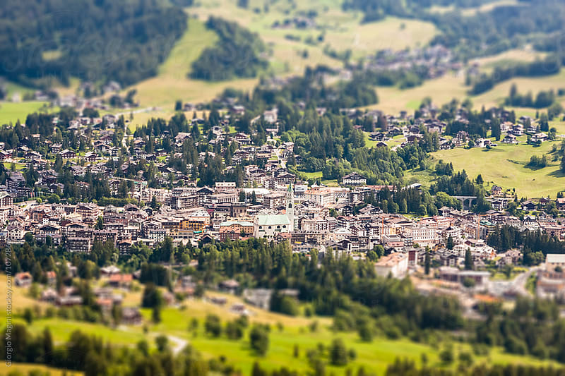 Cortina d'Ampezzo Town in Italian Dolomites Mountains by Giorgio Magini for Stocksy United