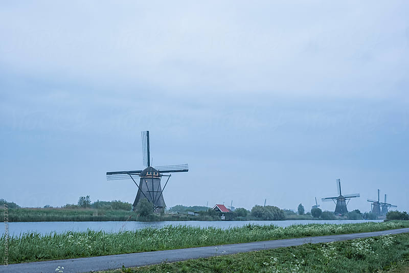 Windmills at Kinderdijk, Netherlands by GIC for Stocksy United