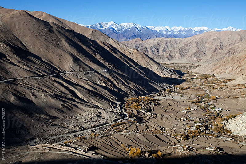Landscape of Ladakh,elevated view. by PARTHA PAL for Stocksy United