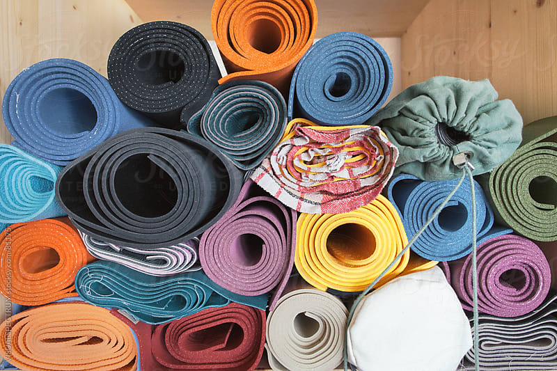 Stack of Yoga Mats by VISUALSPECTRUM for Stocksy United