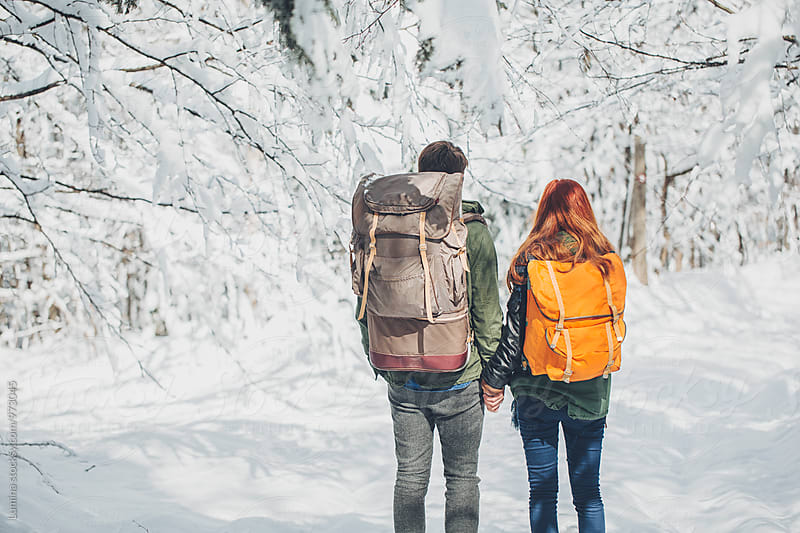 Couple With a Backpack Hiking by Lumina for Stocksy United