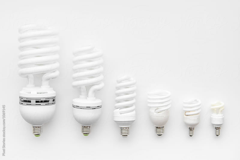 Energy-saving lightbulbs by Pixel Stories for Stocksy United