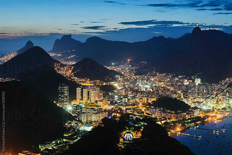 View of Downtown Rio De Janeiro from Sugarloaf Mountain by Raymond Forbes LLC for Stocksy United