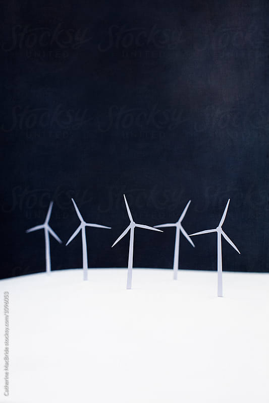 Paper wind turbines... by Catherine MacBride for Stocksy United