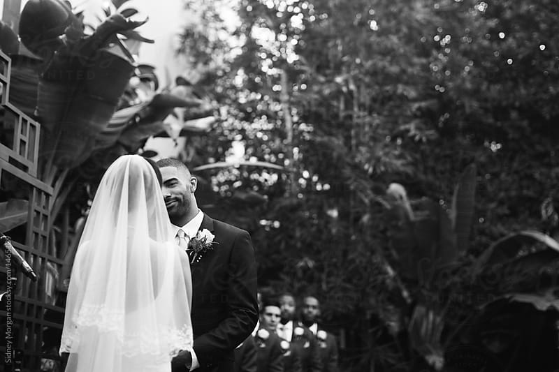 Groom Gazing into Brides Eyes During Ceremony