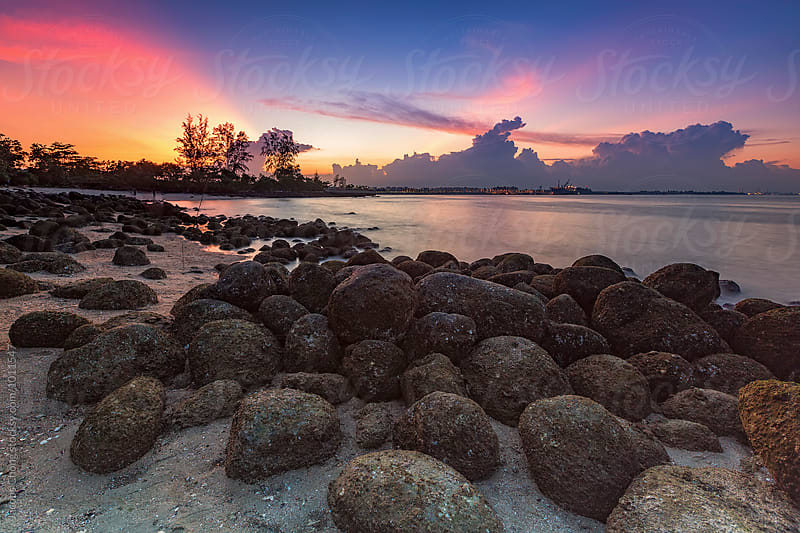 Rocks at Punggol beach by Jacobs Chong for Stocksy United