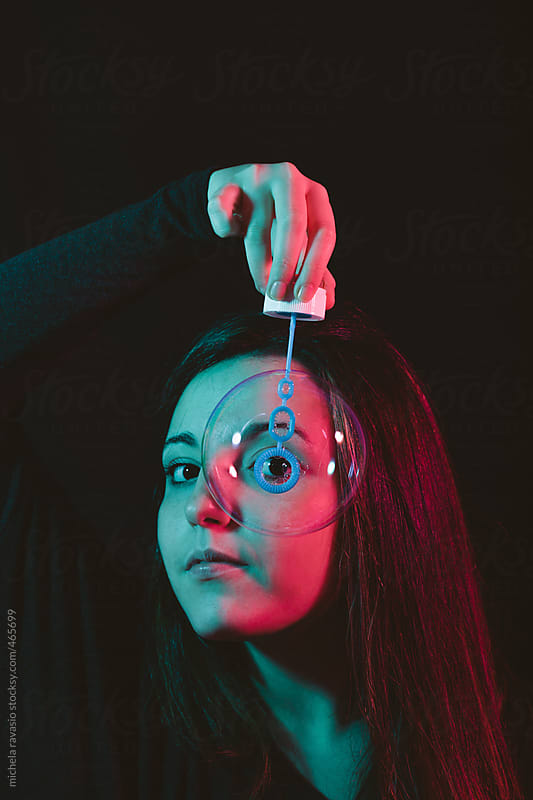 Surreal portrait of a young woman by michela ravasio for Stocksy United