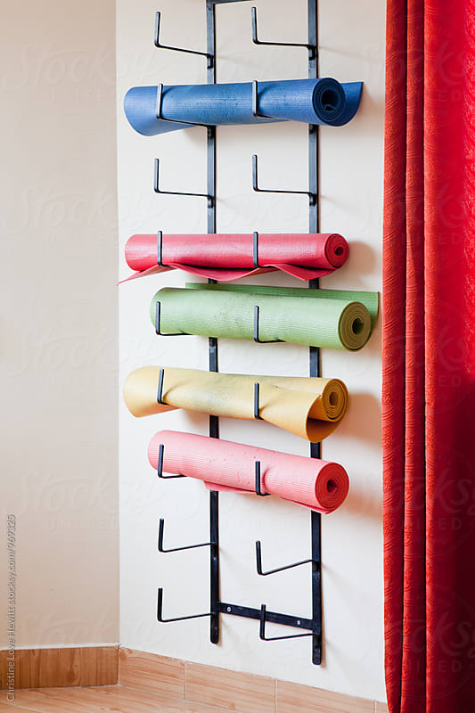 Colourful yoga mats by Christine Love Hewitt for Stocksy United