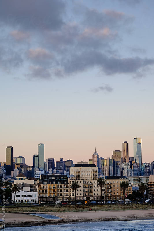 Melbourne Photographed from Station Pier by Gary Radler Photography for Stocksy United