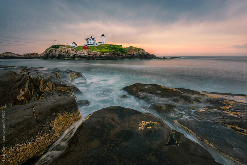 Dawn at Nubble Light by Leslie Taylor for Stocksy United