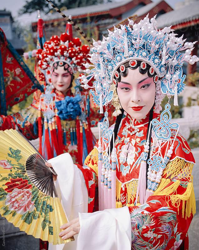 China, Beijing, Beijing opera performers, portrait by Gavin Hellier for Stocksy United