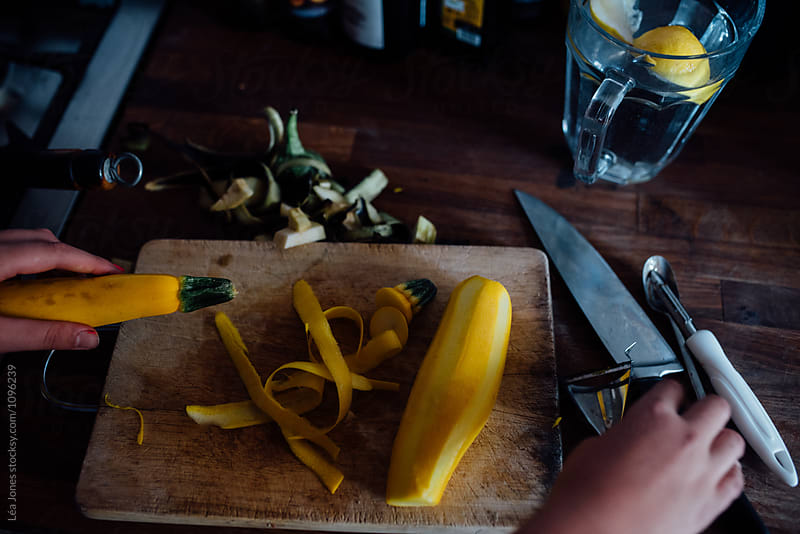 yellow zucchini preparation by Léa Jones for Stocksy United