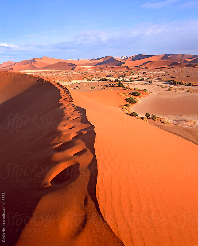 Sand dune formations, Sossusvlei, Namib-Naukluft Park, Namibia, Africa by Gavin Hellier for Stocksy United