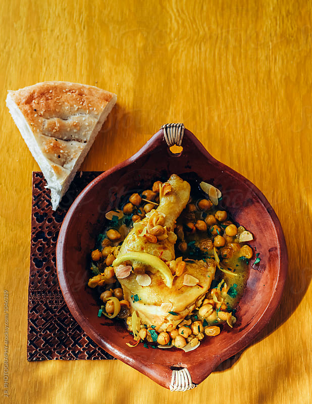 Moroccan stew with chickpeas by J.R. PHOTOGRAPHY for Stocksy United