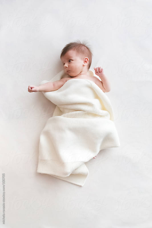 Newborn baby by michela ravasio for Stocksy United