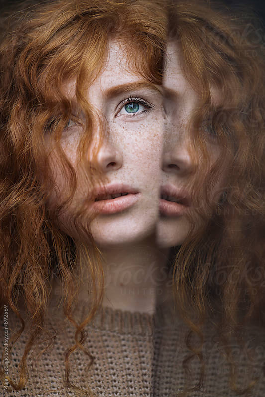 Portrait of a beautiful redhead  by Maja Topcagic for Stocksy United
