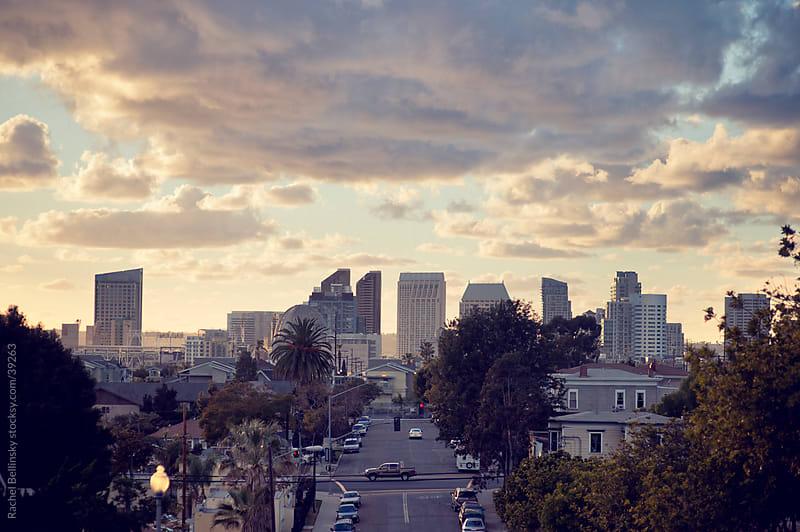 San Diego skyline at Sunset by Rachel Bellinsky for Stocksy United