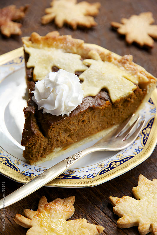 Pumpkin pie by Harald Walker for Stocksy United