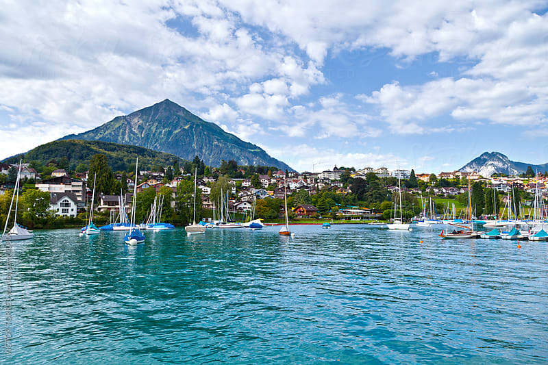 Spiez Harbor, Switzerland by VICTOR TORRES for Stocksy United