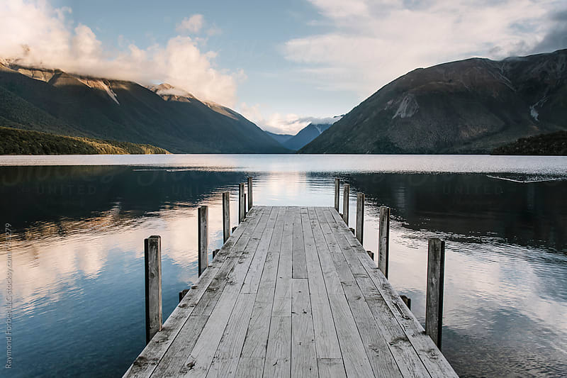 Peaceful Lake New Zealand by Raymond Forbes LLC for Stocksy United