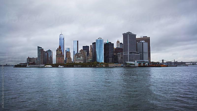 Manhattan Skyline ferry by ACALU Studio for Stocksy United
