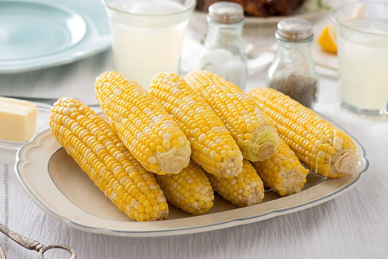 Barbecue Ribs and Corn Dinner Party: The Corn by Jeff Wasserman for Stocksy United