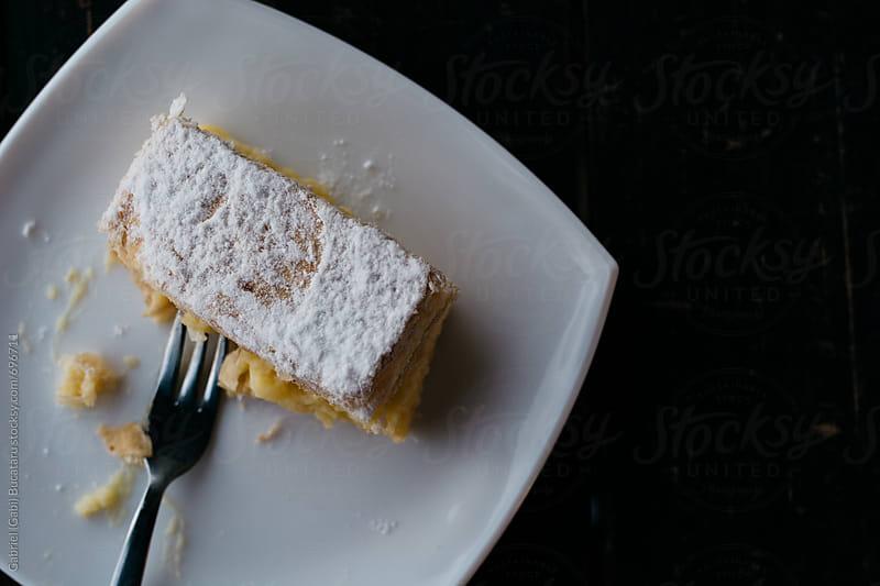 Hungarian Kremes cake from above by Gabriel (Gabi) Bucataru for Stocksy United