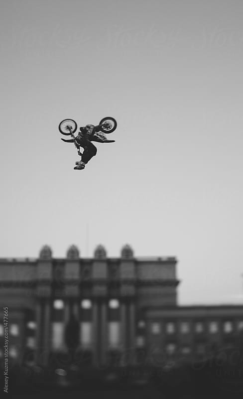 freestyle tricks in the air. by Alexey Kuzma for Stocksy United