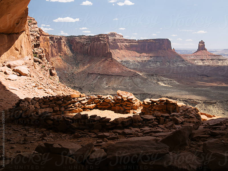 Sweeping view looking out in Canyonlands National Park, Utah by Jeremy Pawlowski for Stocksy United