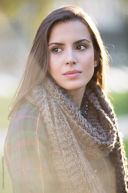 Pretty Woman With a Scarf by Lumina for Stocksy United